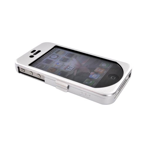 Original Monaco Apple iPhone 4S, AT&T/Verizon iPhone 4 Aluminum Armor Case w/ Belt Clip and Strap - Silver
