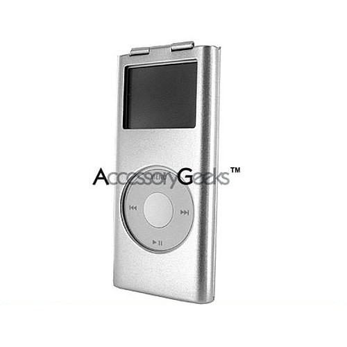 Apple iPod Nano 2 Metal Armor Case - Silver