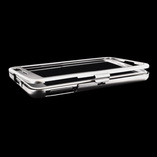 Original Monaco Samsung Galaxy Note Aluminum Case w/ Open Screen Design - Silver