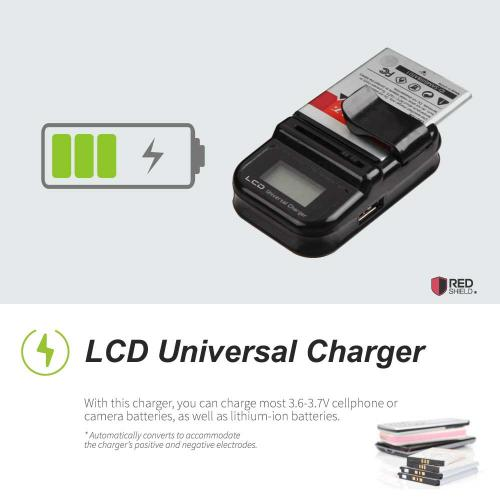 Universal Battery Charger w/ LCD Screen - Black