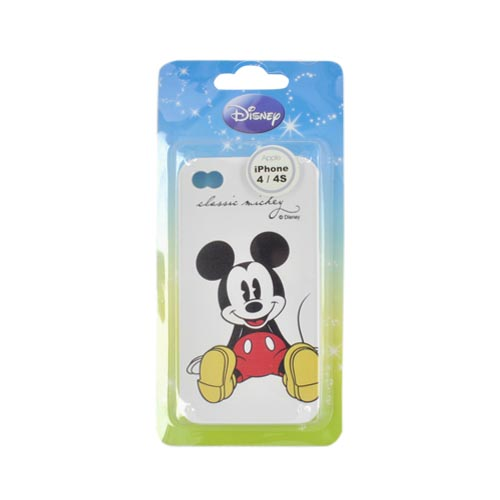 Original Disney AT&T/ Verizon Apple iPhone 4, iPhone 4S Crystal Silicone Case - Classic Mickey Mouse on White