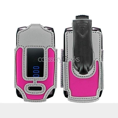 Huawei M318 Nylon Case Cover - Hot Pink w/ Silver Trim