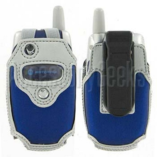 Motorola V300 Blue with Silver Trim Cyber Case