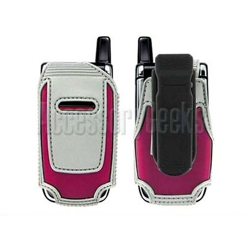 Nokia 6061/6060 Hot Pink and Silver Cyber Case