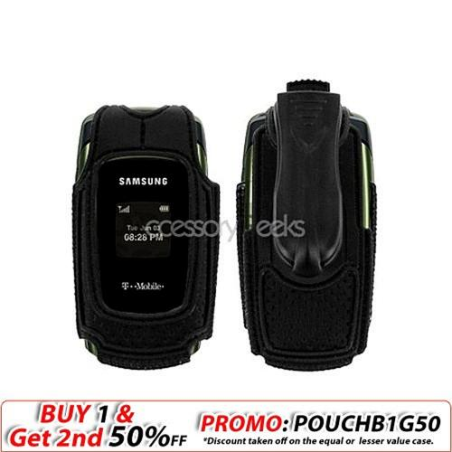 Samsung T109 Nylon Case w/ Swivel Belt Clip - All Black