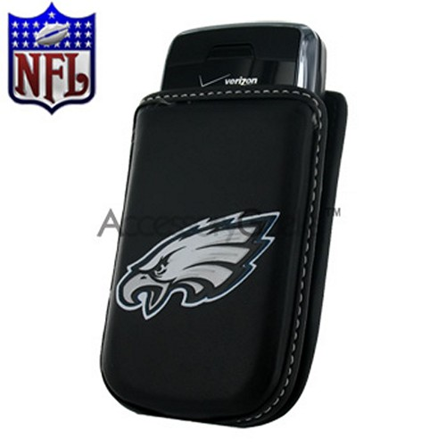 NFL Licensed Vertical Cell Phone Pouch w/ Belt Clip - Philadelphia Eagles