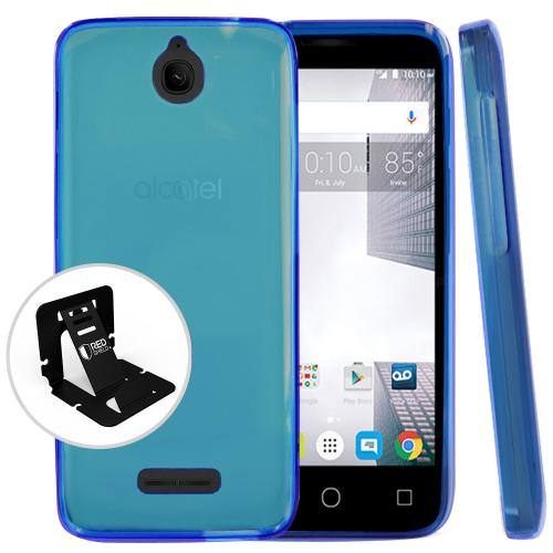[Alcatel Dawn / Acquire / Streak] Case, REDshield [Blue] Slim & Flexible Anti-shock Crystal Silicone Protective TPU Gel Skin Case Cover