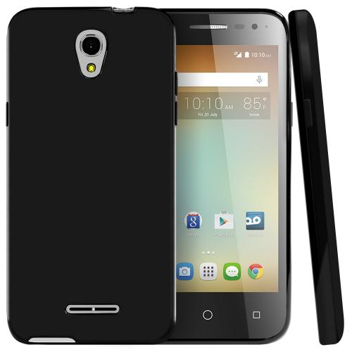 Alcatel OneTouch Elevate Case, [Black] Slim & Flexible Crystal Silicone TPU Protective Case