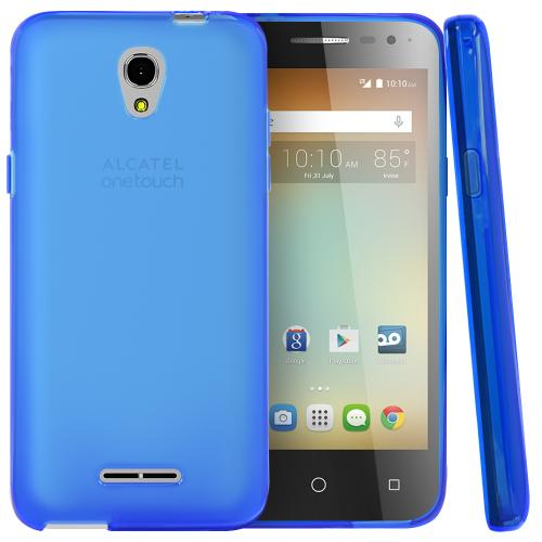 Alcatel OneTouch Elevate Case, [Blue] Slim & Flexible Crystal Silicone TPU Protective Case