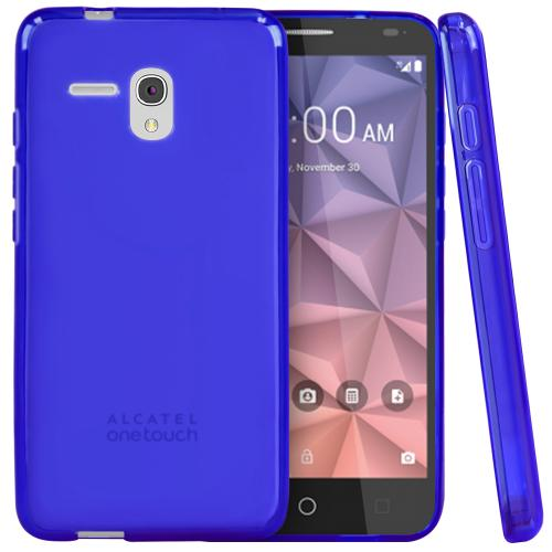 Alcatel OneTouch Fierce XL Case, [Blue] Slim & Flexible Crystal Silicone TPU Protective Case