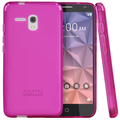 Alcatel OneTouch Fierce XL Case, [Hot Pink] Slim & Flexible Crystal Silicone TPU Protective Case