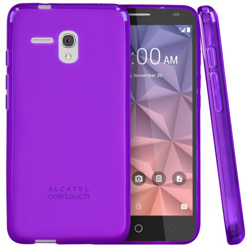 Alcatel OneTouch Fierce XL Case, [Purple] Slim & Flexible Crystal Silicone TPU Protective Case