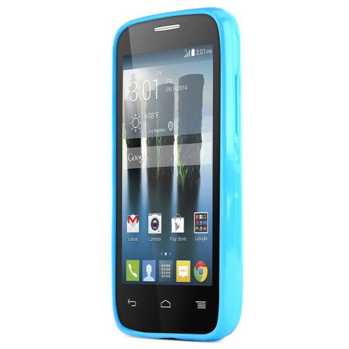 One Touch Evolve 2 Case, [Blue / Frost] Slim & Flexible Crystal Silicone TPU Skin Cover for Alcatel One Touch Evolve 2