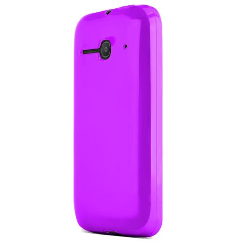 One Touch Evolve 2 Case, [Purple / Frost] Slim & Flexible Crystal Silicone TPU Skin Cover for Alcatel One Touch Evolve 2