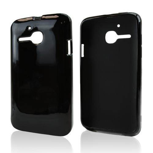 Black Crystal Silicone Skin Case for Alcatel One Touch Evolve