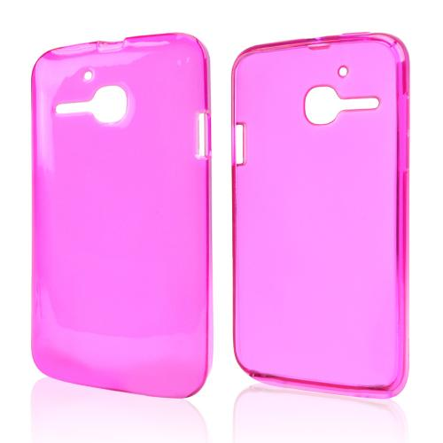 Hot Pink Crystal Silicone Skin Case for Alcatel One Touch Evolve