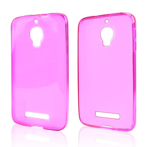 Hot Pink Crystal Silicone Skin Case for Alcatel One Touch Fierce