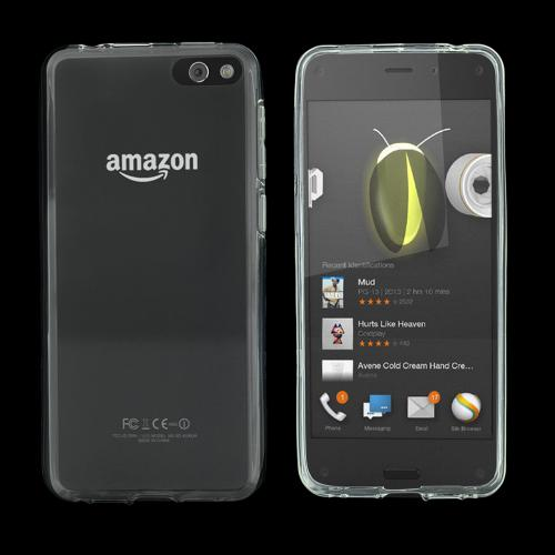 Clear Amazon Fire Phone Flexible Crystal Silicone TPU Case - Conforms To Your Phone Without Stretching Out!