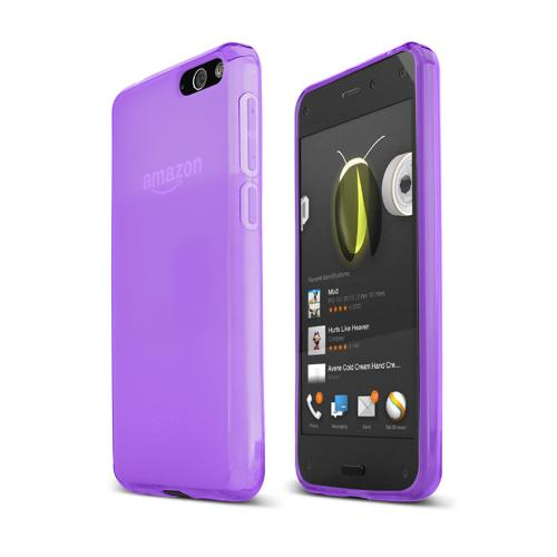 Purple Amazon Fire Phone Flexible Crystal Silicone TPU Case - Conforms To Your Phone Without Stretching Out!