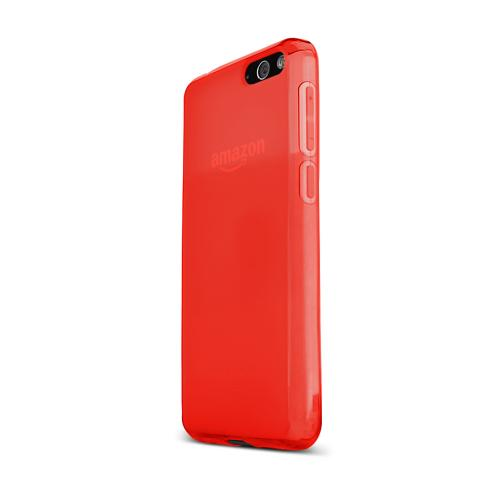 Red Amazon Fire Phone Flexible Crystal Silicone TPU Case - Conforms To Your Phone Without Stretching Out!