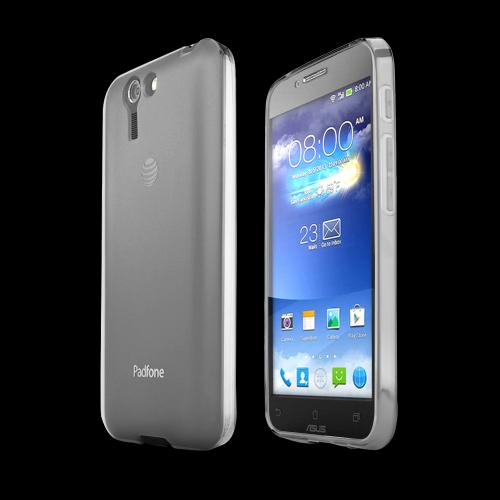 Clear/ Frost Asus PadFone X Flexible Crystal Silicone TPU Case - Conforms To Your Phone Without Stretching Out!