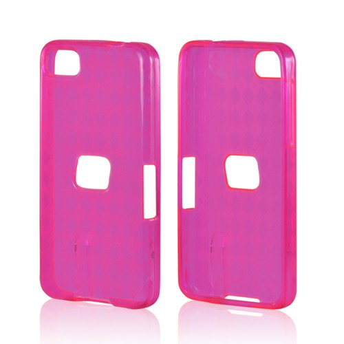 Argyle Hot Pink Crystal Silicone Case for BlackBerry Z10