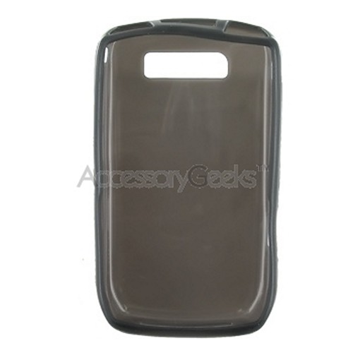 Blackberry Curve 8900 Flexi Glow Silicone Case, Rubber Skin - Solid Smoke