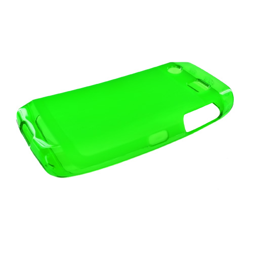 Blackberry Pearl 3G 9100/9105 Crystal Silicone Case, Rubber Skin - Green