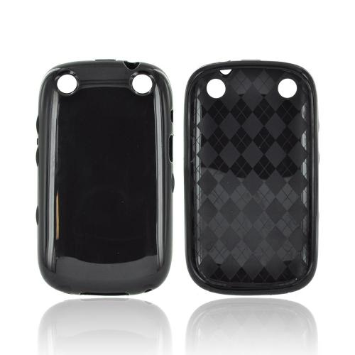 BlackBerry Curve 9310/9320 Crystal Silicone Case - Argyle Black