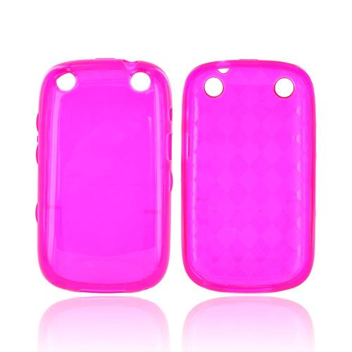 BlackBerry Curve 9310/9320 Crystal Silicone Case - Argyle Hot Pink