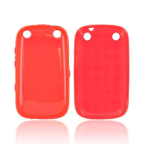 BlackBerry Curve 9310/9320 Crystal Silicone Case - Argyle Red