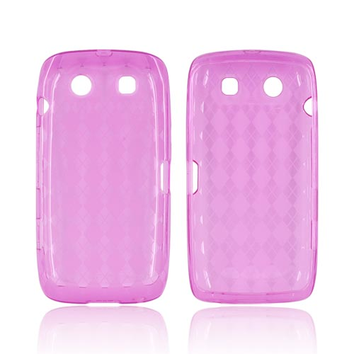 Blackberry Torch 9850 Crystal Silicone Case - Argyle Pink