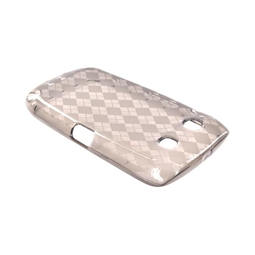 Blackberry Torch 9850 Crystal Silicone Case - Argyle Smoke