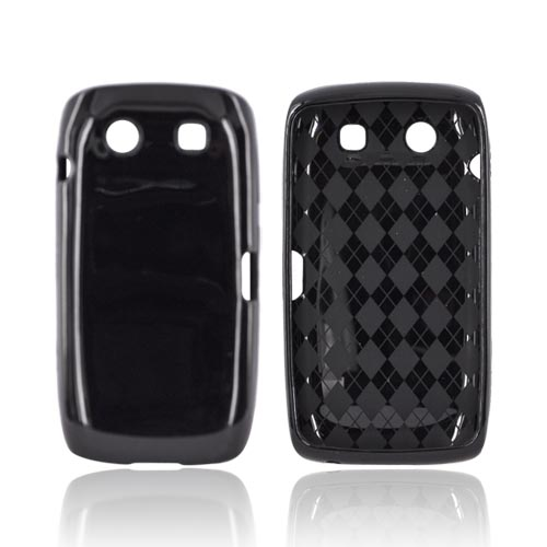 Blackberry Torch 9850 Crystal Silicone Case - Black (Argyle Interior)