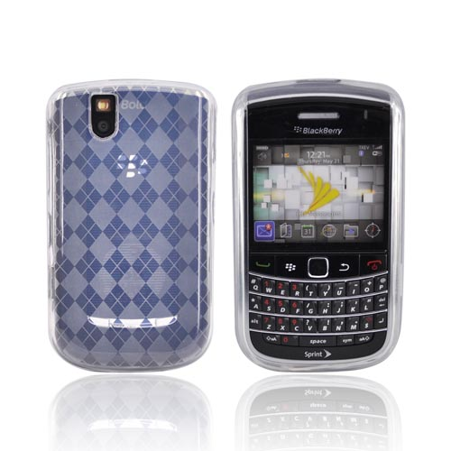 Blackberry Bold 9650/Tour 9630 Crystal Silicone Case - Argyle Print on Clear