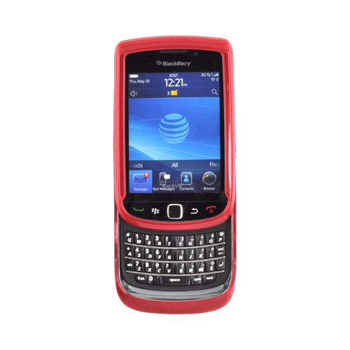 Blackberry Torch 9800 Crystal Silicone Case - Argyle Red