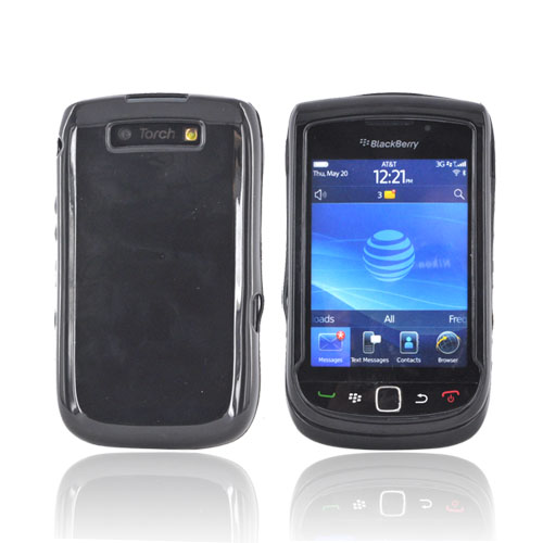 Blackberry Torch 9800 Crystal Silicone Case - Black