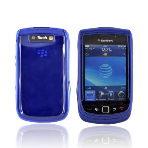 Blackberry Torch 9800 Crystal Silicone Case - Blue