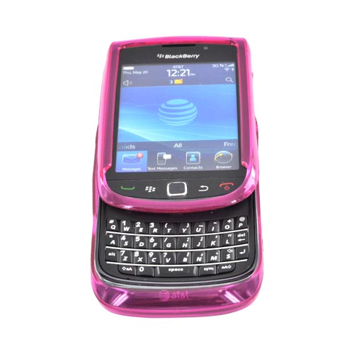 Blackberry Torch 9800 Crystal Silicone Case - Hot Pink