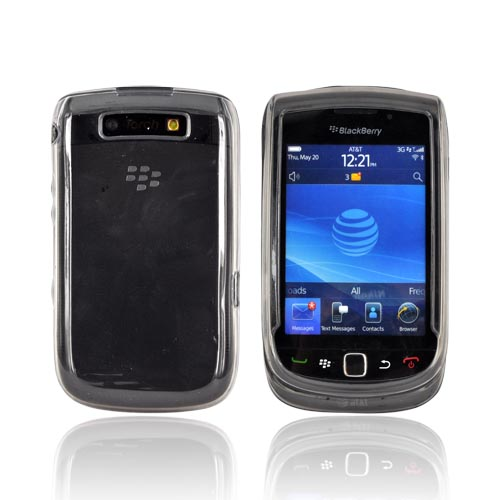 Blackberry Torch 9800 Crystal Silicone Case - Smoke