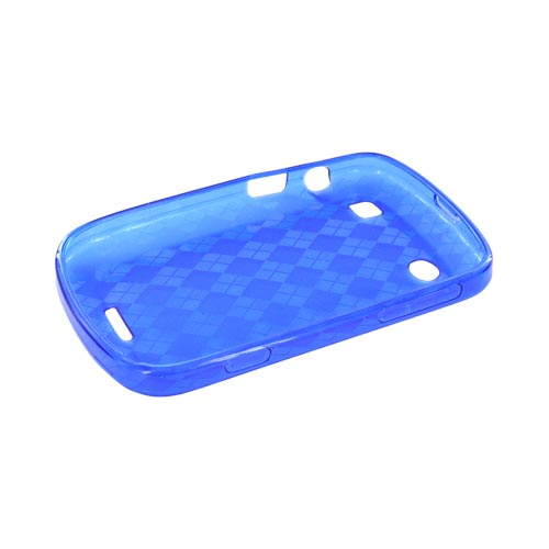 Blackberry Bold 9900, 9930 Crystal Silicone Case - Argyle Blue