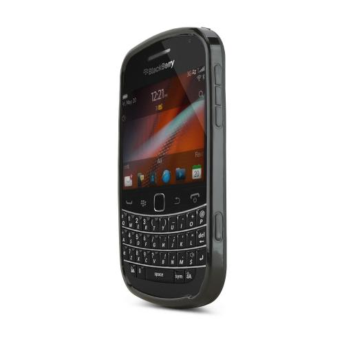 Blackberry Bold 9900, 9930 Crystal Silicone Case - Black w/ Argyle Interior
