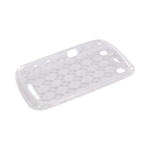 Blackberry Curve 9360/ Apollo Crystal Silicone Case - Argyle Clear