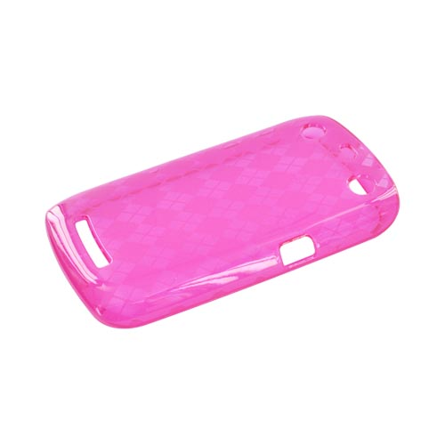Blackberry Curve 9360/ Apollo Crystal Silicone Case - Argyle Pink