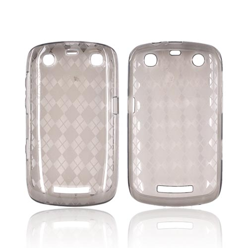 Argyle Light Smoke Blackberry Curve 9360 Apollo Crystal Silicone Case