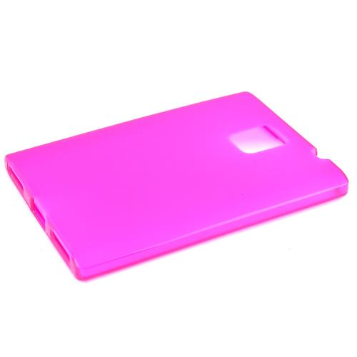 Blackberry Passport Tpu Case [hot Pink] Protective Bumper Case W/ Flexible Crystal Silicone Tpu Impact Resistant Material