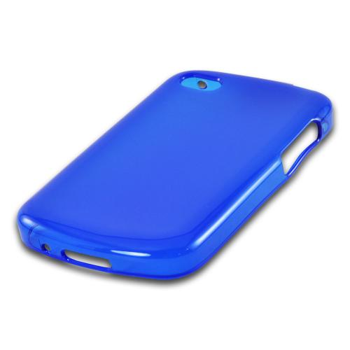 Matte Blue Crystal Silicone Case w/ Polished Borders for Blackberry Q10