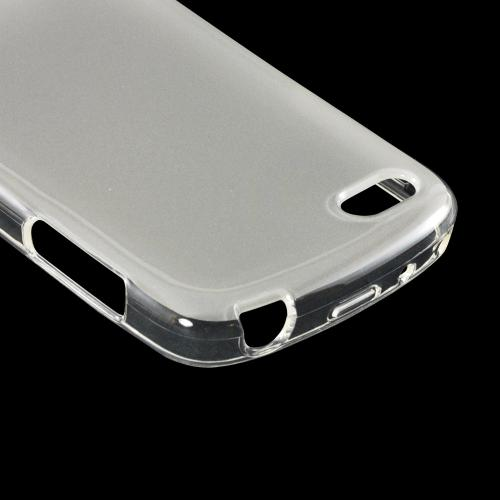 Matte Frost White Crystal Silicone Case w/ Polished Borders for Blackberry Q10