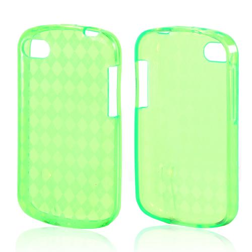Argyle Neon Green Crystal Silicone Case for Blackberry Q10