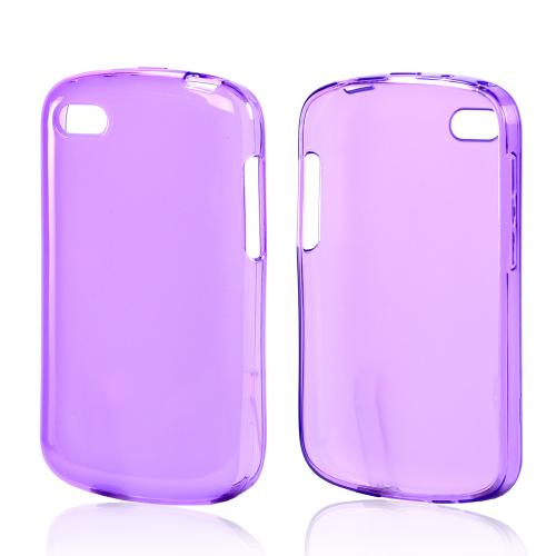Matte Purple Crystal Silicone Case w/ Polished Borders for Blackberry Q10